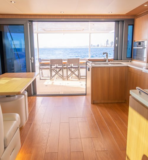 Open plan galley and dining