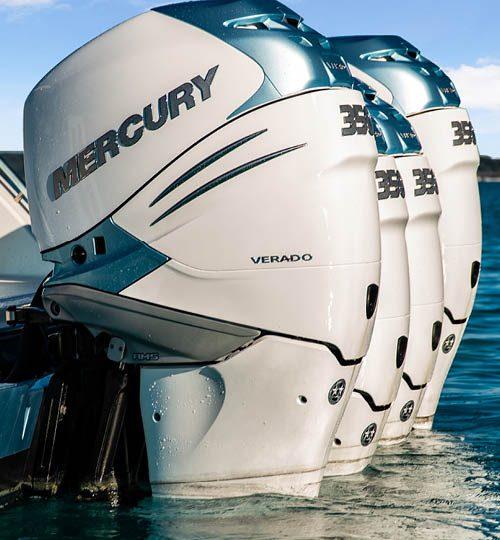Quad 350 hp Mercury VeradoOcean Alexander 45 Divergence